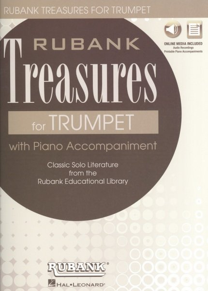 Rubank Treasures for Trumpet + Audio Online / trubka + klavír (PDF)