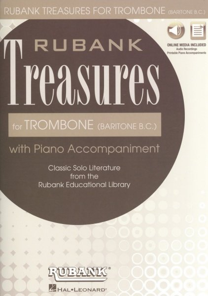 Rubank Treasures for Trombone + Audio Online / pozoun + klavír (PDF)