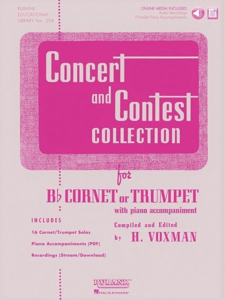 CONCERT & CONTEST COLLECTIONS + Audio Online / trumpeta + klavír (PDF)