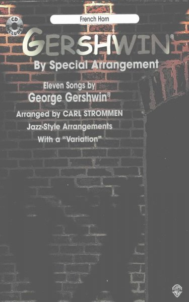 Warner Bros. Publications GERSHWIN - JAZZ  ARRANGEMENT + CD / lesní roh (f horn)