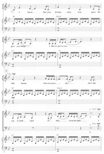 Someone Like You By Adele Satb Pianochords Clarina