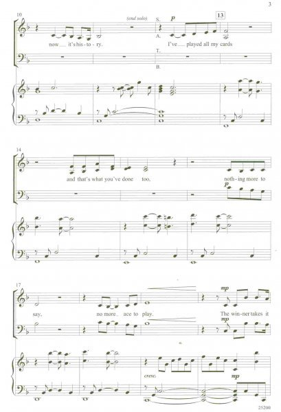 The Winner Takes It All (from Mamma Mia!)  / SATB*