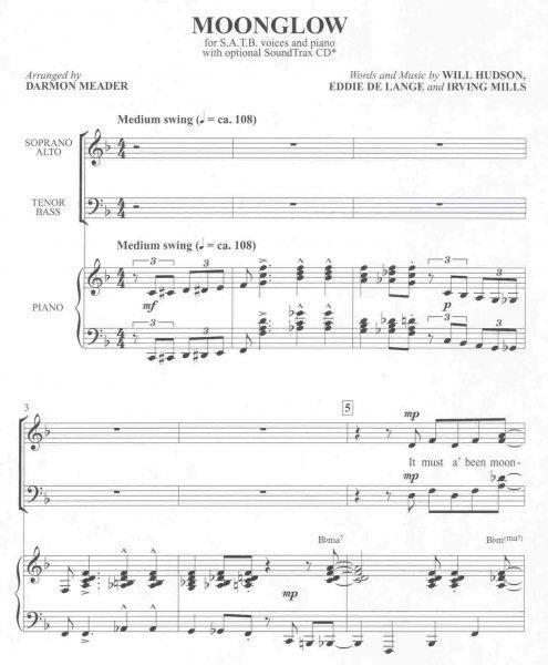 ALFRED PUBLISHING CO ,INC  MOONGLOW / SATB* + piano/chords - Clarina