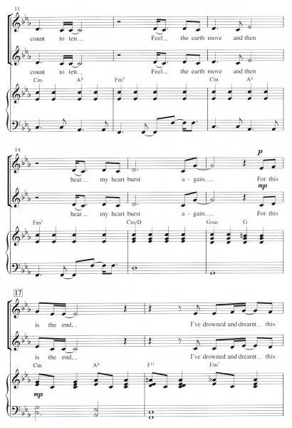 SKYFALL / SSA* + piano/chords - Clarina
