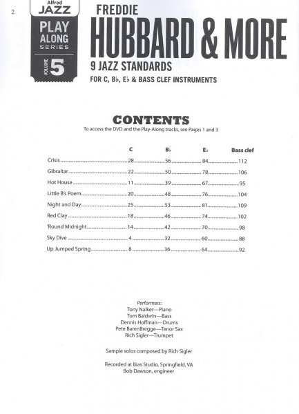 Alfred Jazz Play Along 5 - Freddie Hubbard & More + DVD