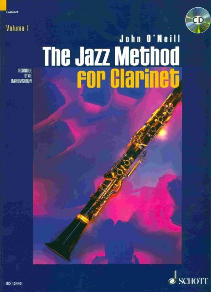 The Jazz Method for Clarinet by John O'Neill + CD / klarinet