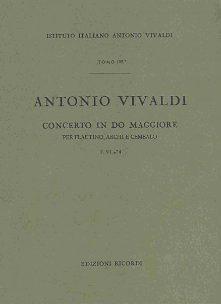 Concerto in C Major (RV443) for Flute, Strings and Cembalo