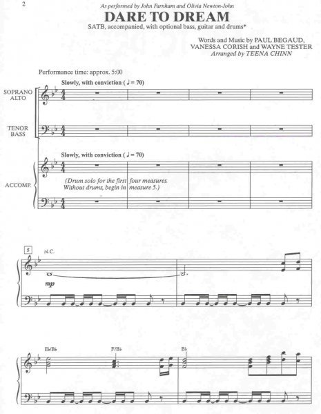 DARE TO DREAM / SATB