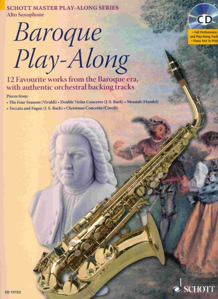 BAROQUE PLAY ALONG + CD / alto saxofon + klavír