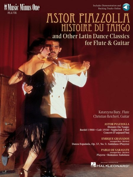 Music Minus One ASTOR PIAZZOLA - Histoire Du Tango and Others Latin Dance Classics for flu