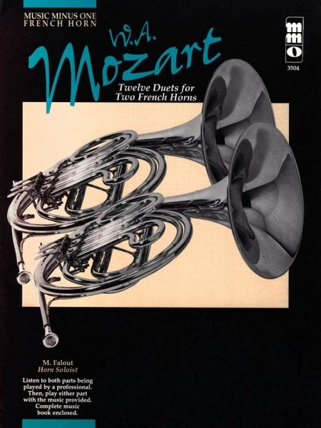 MOZART - 12 Pieces for Two French Horns (12 skladeb pro dva lesní rohy) + CD
