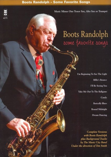 Music Minus One Boots Randolph - Some Favorite Songs + CD // alto / tenor saxophone (trump