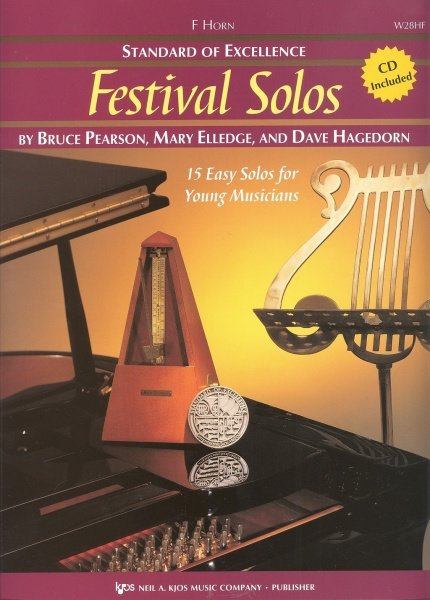 Standard of Excellence: Festival Solos 1 + CD / f horn (lesní roh)