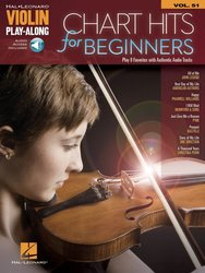 VIOLIN PLAY-ALONG 51 - CHART HITS for Beginners + Audio Online