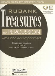 Rubank Treasures for Percussion + Audio Online / bicí nástroje + klavír (PDF)