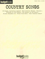 BUDGETBOOKS - COUNTRY SONGS klavír/zpěv/kytara