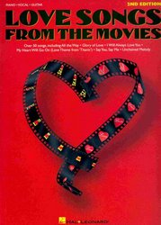 Hal Leonard Corporation LOVE SONGS FROM THE MOVIES 2nd edition       klavír/zpěv/kytara