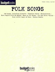 Hal Leonard Corporation BUDGETBOOKS - FOLK SONGS  klavír/zpěv/kytara