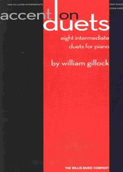 ACCENT ON DUETS by William Gillock / 1 klavír 4 ruce