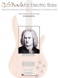 J.S. Bach for Electric Bass - solos and duets for bass guitar / basová kytara + tabulatura
