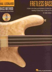 FRETLESS BASS + Audio Online (Hal Leonard Bass Method) / basová kytara + tabulatura