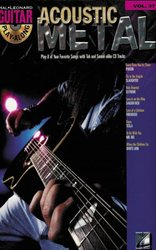 Hal Leonard Corporation Guitar Play Along 37 - ACOUSTIC METAL + CD