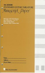 Hal Leonard Corporation MANUSCRIPT PAPER (Notový papir) - STANDARD GUITAR TABLATURE