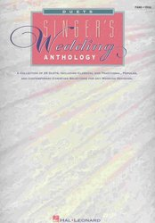 SINGER'S WEDDING ANTHOLOGY - DUETS  vocal & piano