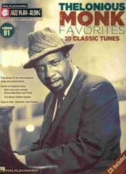 Hal Leonard Corporation JAZZ PLAY ALONG 91 - Thelonious Monk Favorites + CD