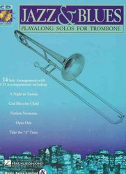 Hal Leonard Corporation JAZZ&BLUES - PLAY ALONG + CD / trombon (pozoun)