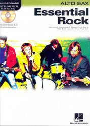Hal Leonard Corporation ESSENTIAL ROCK + CD / alto saxofon