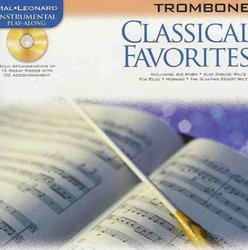 Hal Leonard Corporation CLASSICAL FAVORITES + CD / trombon