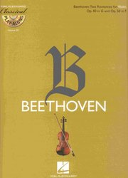 CLASSICAL PLAY ALONG 20 - BEETHOVEN: Two Romances, Op.40 in G and Op.50 in F + CD / housle