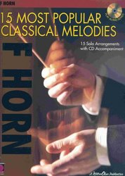 Cherry Lane Music Company 15 MOST POPULAR CLASSICAL MELODIES + CD / lesní roh (f horn)