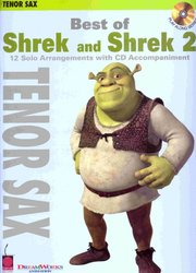 Cherry Lane Music Company BEST OF SHREK&SHREK 2 + CD / tenorový saxofon