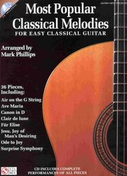 Most Popular Classical Melodies for Easy Classical Guitar + Audio Online / kytara + tabulatura