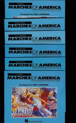 Hal Leonard Corporation MARCHES OF AMERICA   Collection for Marching Band - PARTS