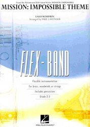 Hal Leonard Corporation FLEX-BAND - MISSION IMPOSSIBLE (grade 2-3) / partitura + party