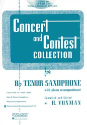 CONCERT & CONTEST COLLECTIONS for Tenor Sax - CD s klavírním doprovodem