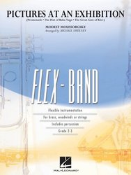 Hal Leonard Corporation FLEX-BAND - PICTURES AT AN EXHIBITION (Obrázky z výstavy) / partit