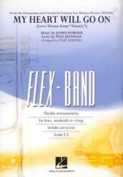 Hal Leonard Corporation FLEX-BAND - My Heart Will Go On (from Titanic) / partitura + party
