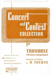 RUBANK CONCERT&CONTEST COLLECTIONS for Trombone - solový sešit