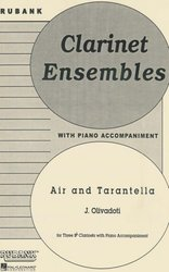 AIR AND TARANTELLA  clarinet trio with piano acc.