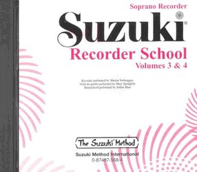 ALFRED PUBLISHING CO.,INC. SUZUKI SOPRANO RECORDER SCHOOL 3&4 - CD with accompaniment