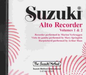 ALFRED PUBLISHING CO.,INC. SUZUKI ALTO RECORDER 1&2 - CD with accompaniment