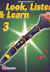 Hal Leonard MGB Distribution LOOK, LISTEN&LEARN 3 + CD method for clarinet