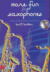 More Fun for Saxofones + CD   saxophone trios (AAT) / tria pro saxofony