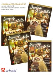 SWING QUARTETS - Combo Accompaniment (parts for piano, guitar, bass, drums)