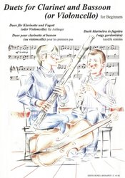 Duets for Clarinet and Bassoon (Violoncello) for beginners / dueta pro klarinet a fagot (violoncello)