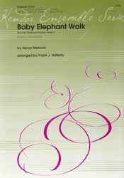 Baby Elephant Walk  -  clarinet choir (Eb, 3x Bb, Eb, Bb bass, Bb Contrabass) / partitura